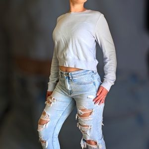 Wilfred Baby Blue Cropped Sweater
